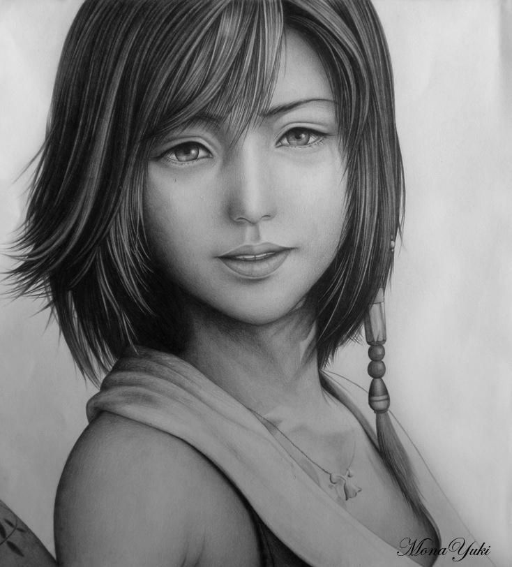 Final Fantasy - Yuna by MonaYuki