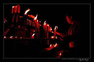 Red Candles by avotius