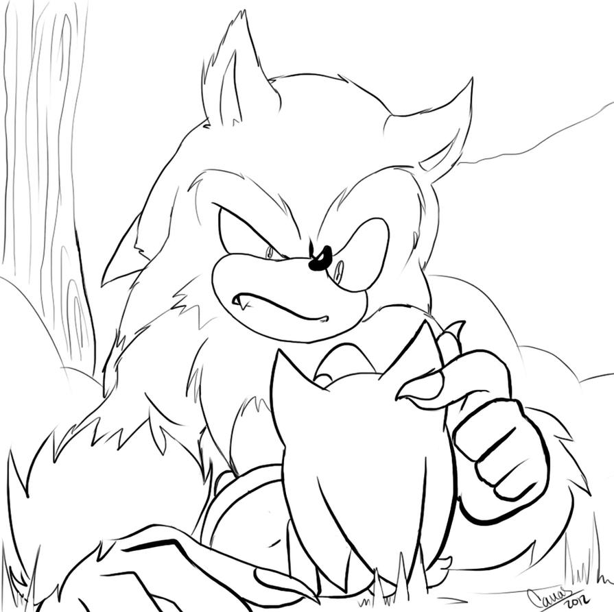 Werehog Curiosity By CArDoNaNaVaS On DeviantArt Cardonanavas D5ace4u 319705230 Rouge Coloring Pages X