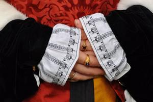 Katherine Howard Cuffs by VickitoriaEmbroidery