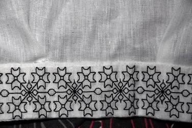 Blackwork Collar by VickitoriaEmbroidery