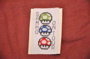 Mario Luggage Tag by VickitoriaEmbroidery