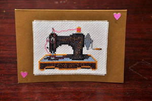 Sewing Machine Card by VickitoriaEmbroidery