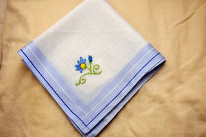 Flower Hankie 2 by VickitoriaEmbroidery