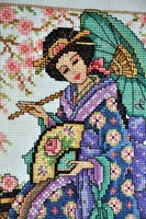 Geisha Close Up by VickitoriaEmbroidery