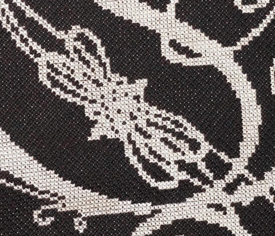 Opeth logo cross stitch by vickitoriaembroidery on