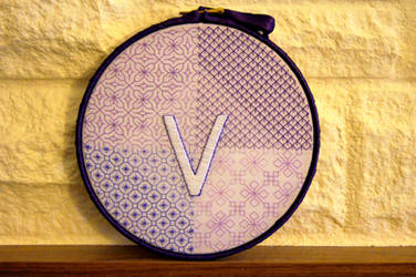 Blackwork Hoop by VickitoriaEmbroidery