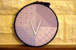 Blackwork Hoop by VickitoriaEmbroidery