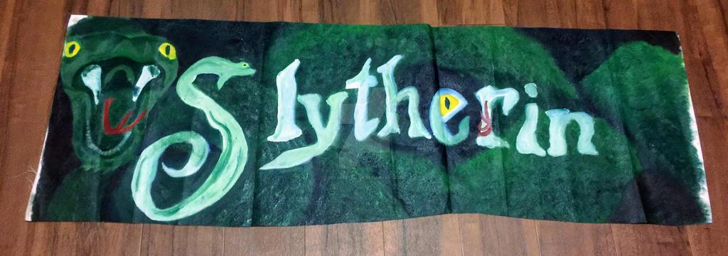 Slytherin House Banner 2015 by SlashRepeller