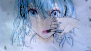 Hatsune Miku drawing by anime-girl1709