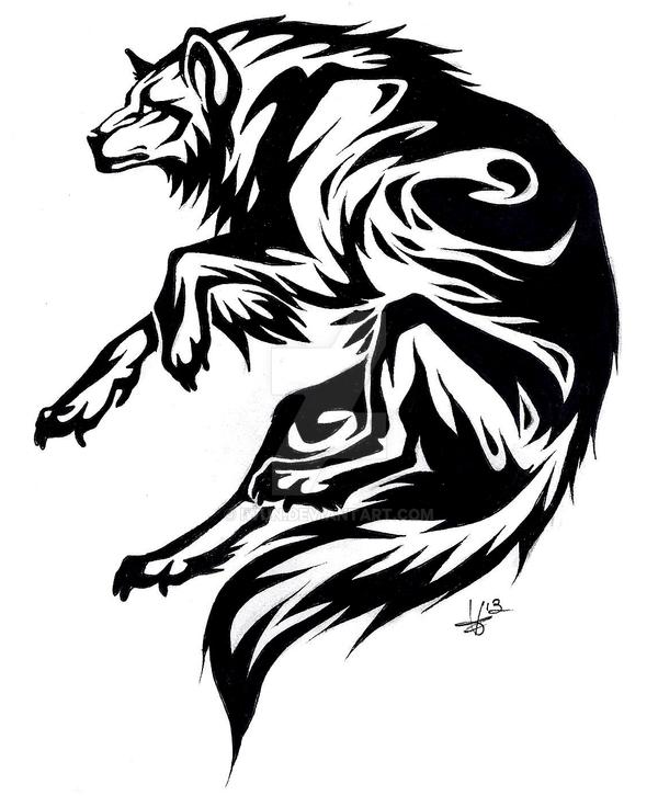 Circle wolf tattoo by Iwun on DeviantArt