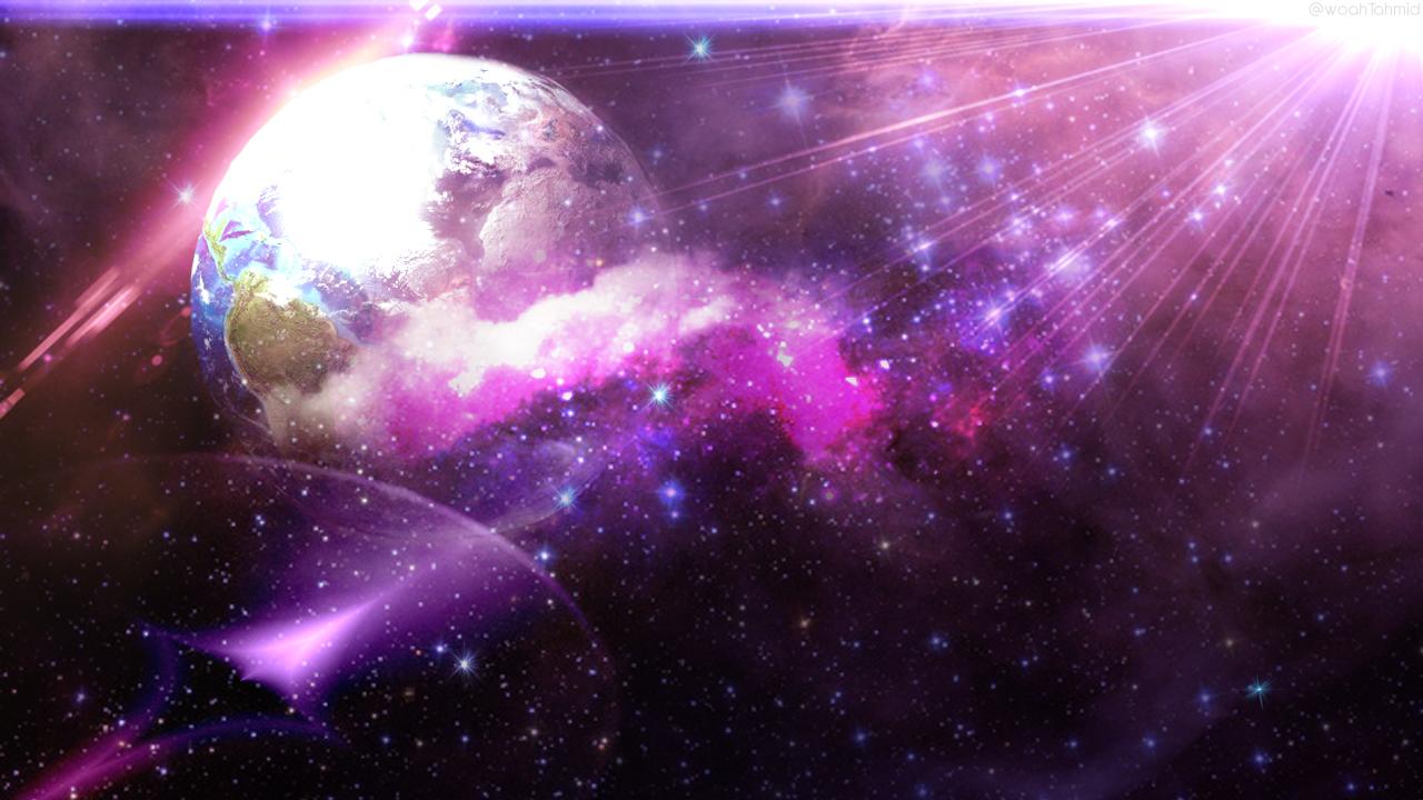 Purple Space Planets Desktop X Wallpaper wallpaper