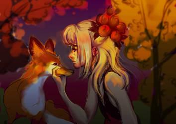 Krita autumn sketch by Ka-ou