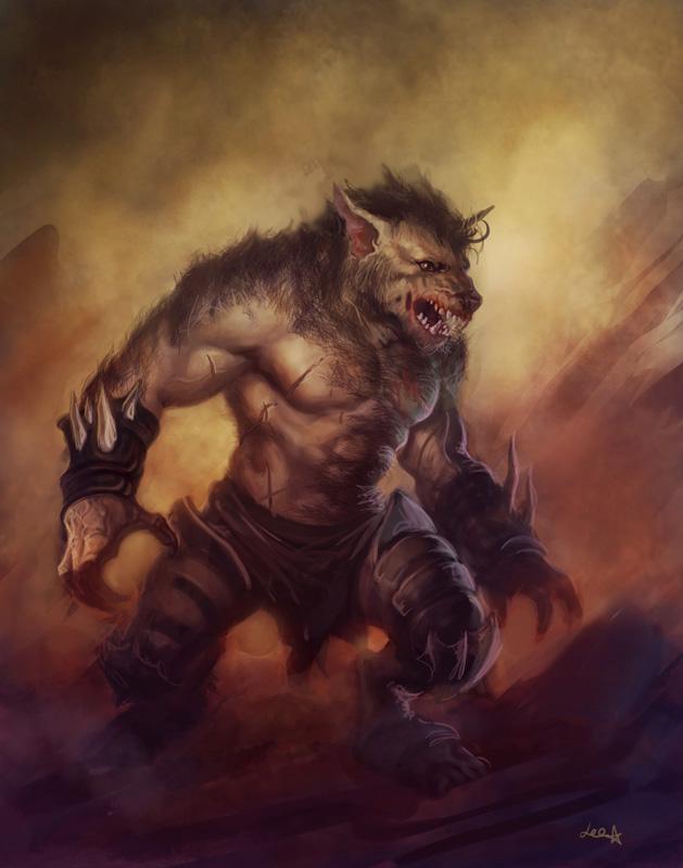 Wolf guy by dleoblack on DeviantArt Werewolf Warrior Art