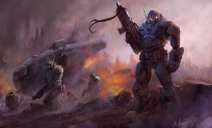 War - speed painting