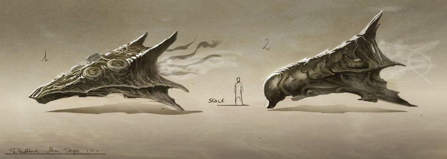 alien ship concept by dleoblack