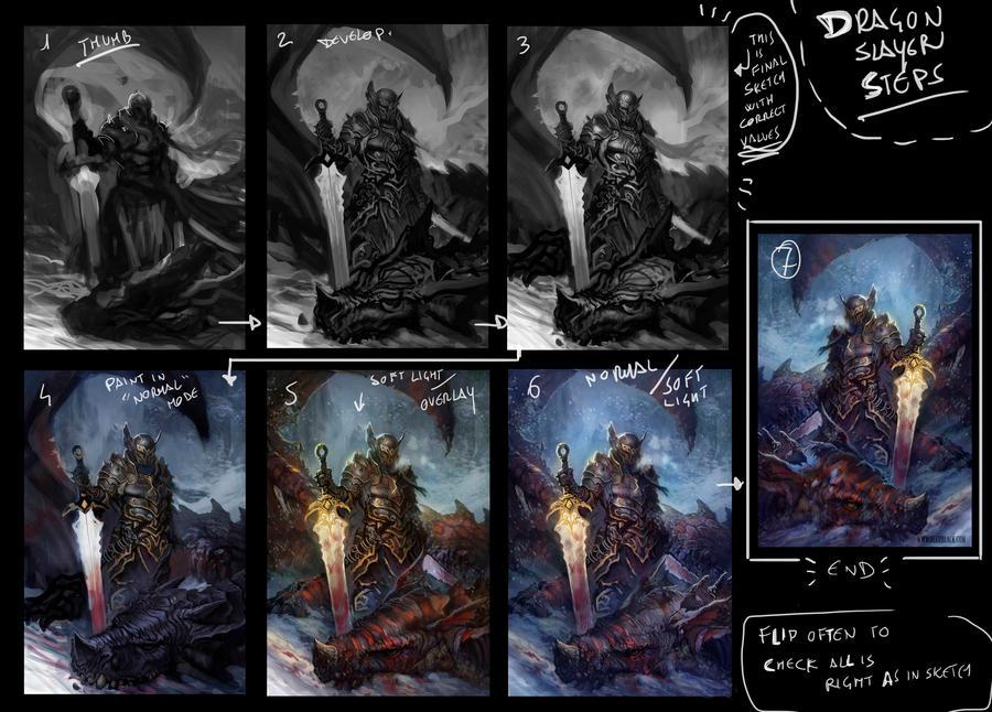 Dragon Slayer_steps by dleoblack