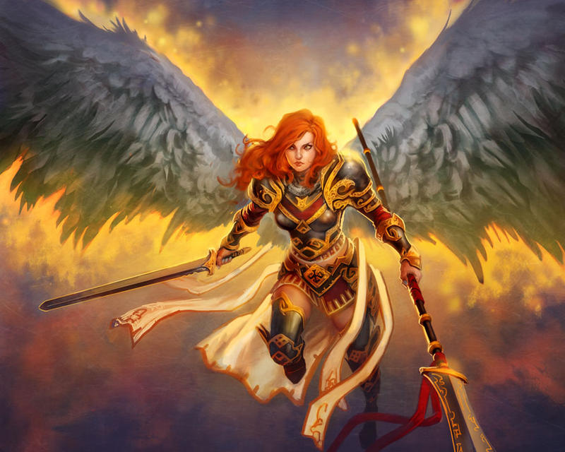 fantasy warrior angels