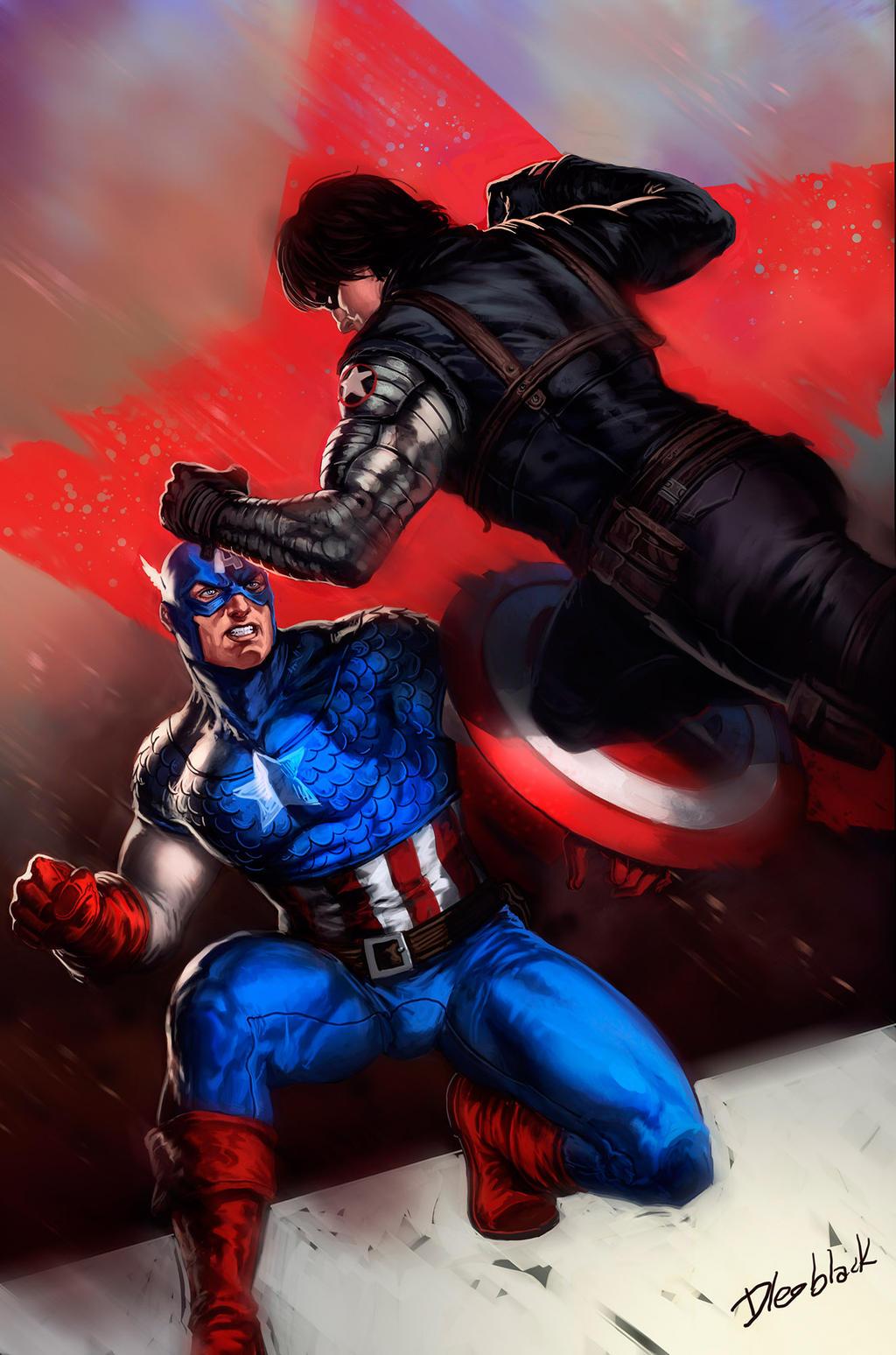 Captain America by dleoblack