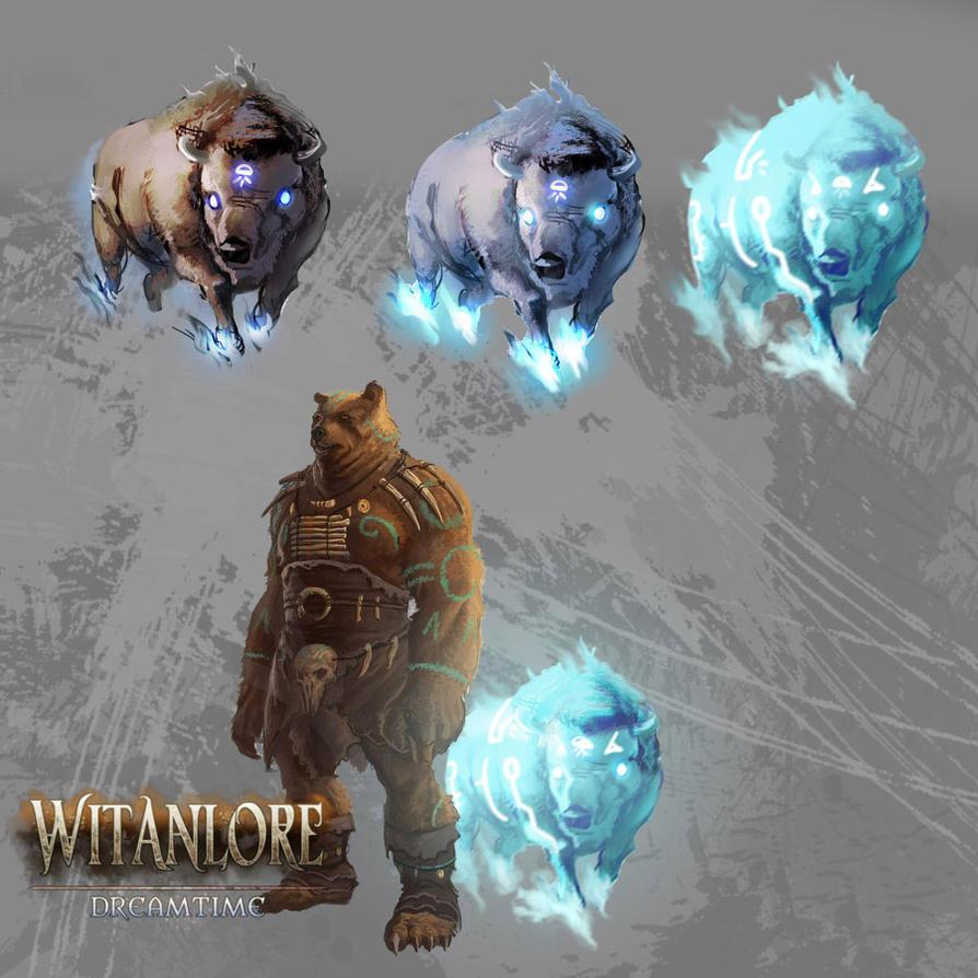 Witanlore: totem spirits by dleoblack