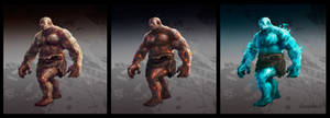 elemental creatures concept by dleoblack