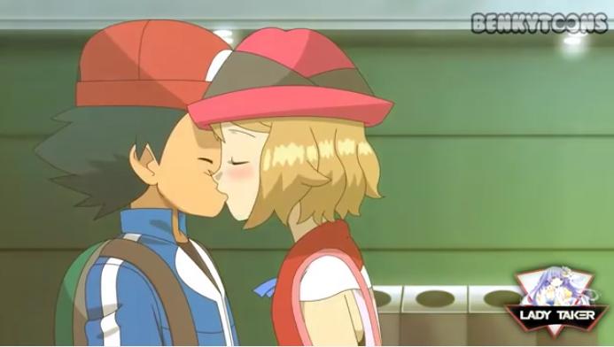 ash x serena kiss benky toon animation LT chanel by LadyTakerFandub