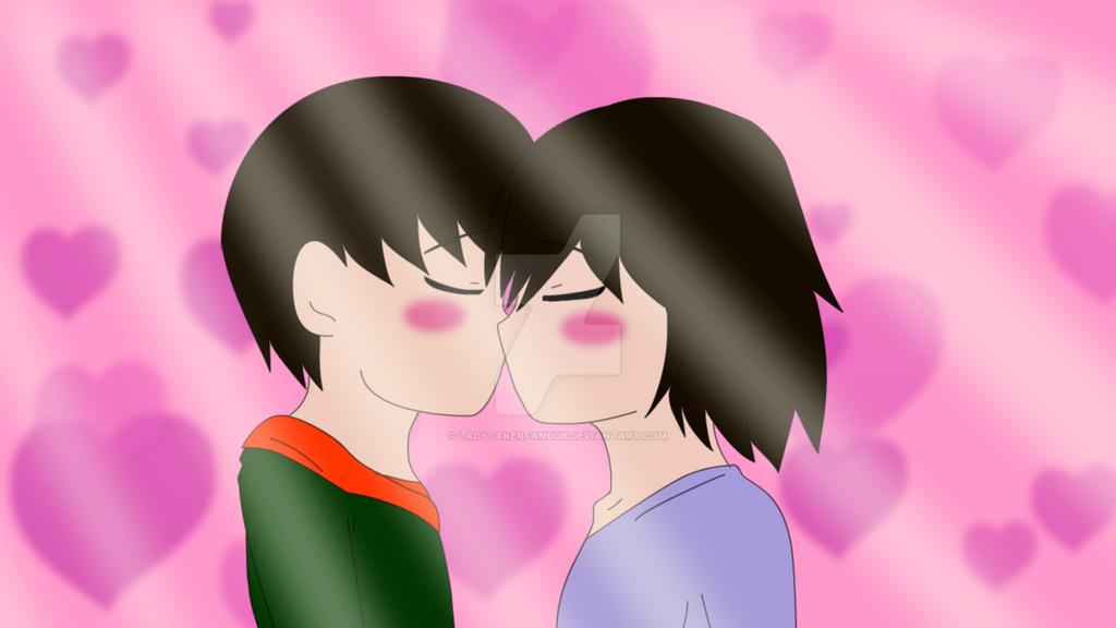 lady taker x tomy chibi kiss by LadyTakerFandub