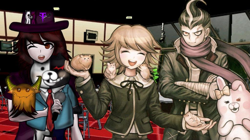 Danganronpa lady taker tanaka and chihiro by LadyTakerFandub
