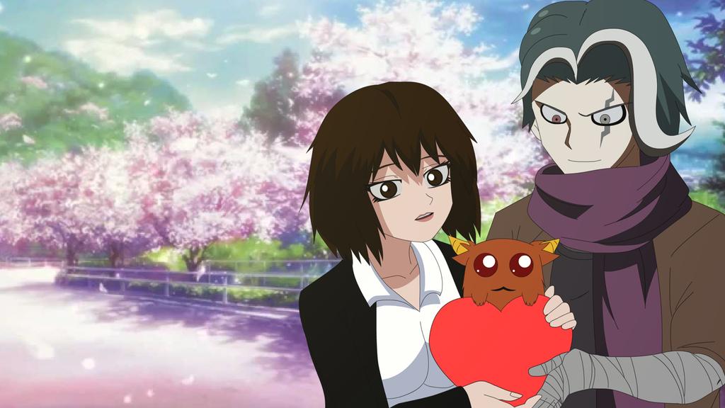 Tanaka Gundham X Lady Taker Valentine Day by LadyTakerFandub