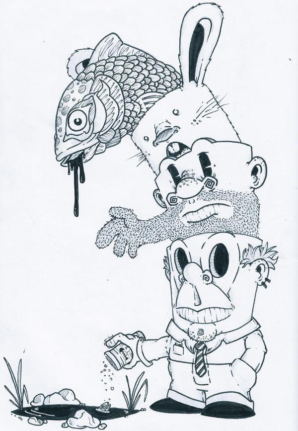 Jeremy fish blew my mind by eggboymcmuff on deviantart for Jeremy fish art