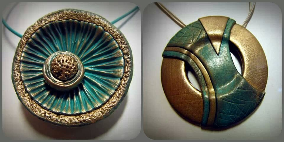 Polymer clay pendants by nevenue on deviantart polymer clay pendants by nevenue mozeypictures Images