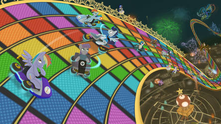 N64 Rainbow Road - Pony Kart by chainchomp7