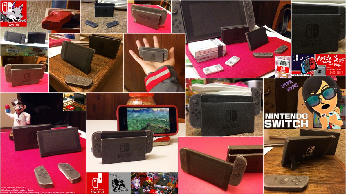 Nintendo Switch Nano Papercraft by chainchomp7