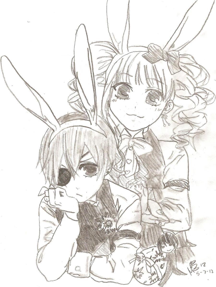 easter with black butlerkuroshitsuji by cielcplay
