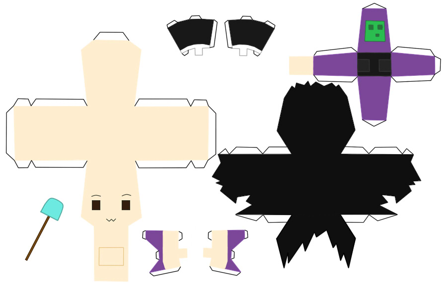 Minecraft Papercraft Butter Ore Slyfoxhound papercraft templante by ...