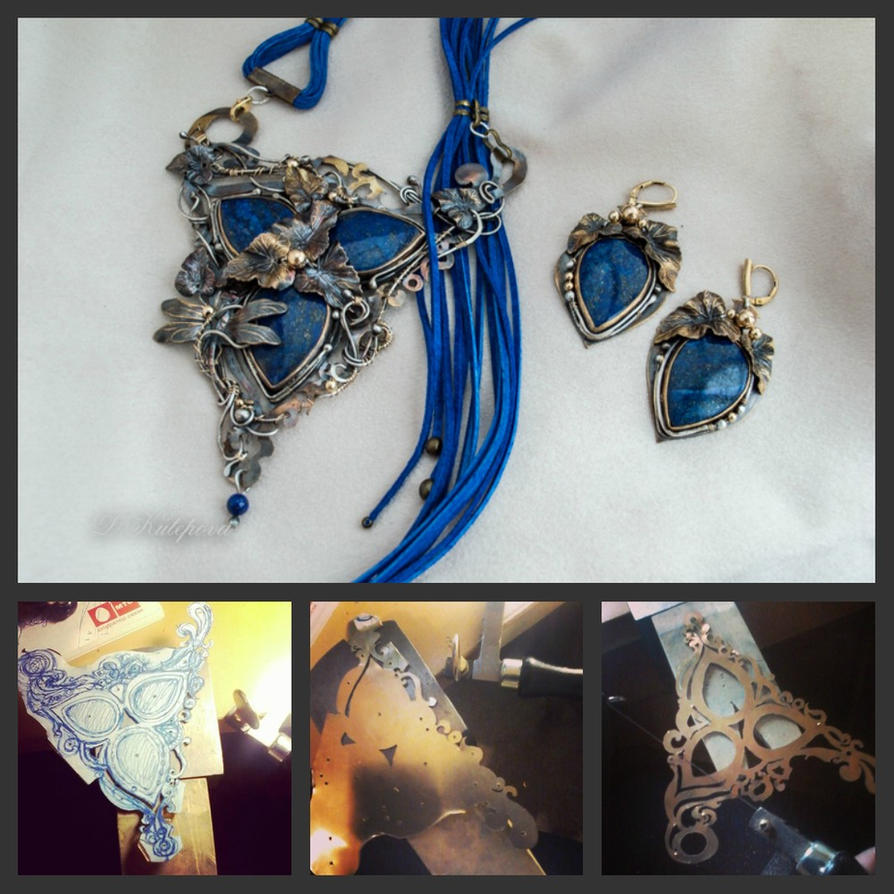 Set with lapis lazuli by DARiyaKUTEPOVA