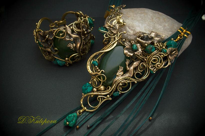 set wire wrap  art brass by DARiyaKUTEPOVA