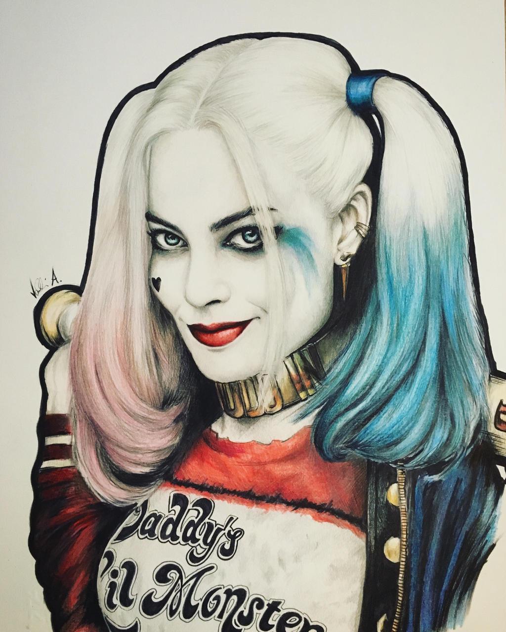 Harley Quinn Drawing: Harley Quinn Drawing By AlessandroValli On DeviantArt