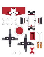Castle Crasher Papercraft RED by crzisme