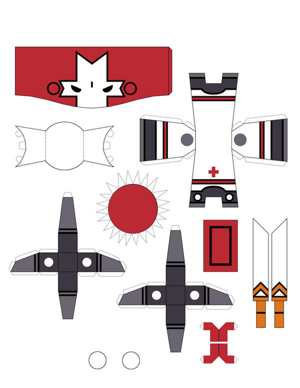 Castle Crasher Papercraft RED by crzisme