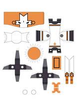 Castle Crasher Papercraft Oran by crzisme