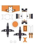 Castle Crasher Papercraft Oran
