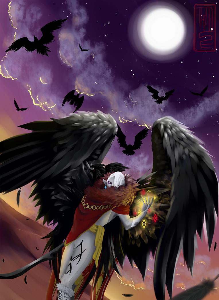Raven Demon Lord Ghirahim by Minyaz