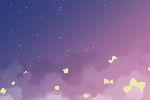 Free To Use Background- Stars and Clouds