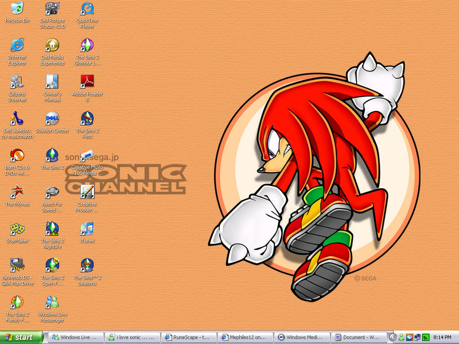 knuckles the echidna desktop by Mephiles12