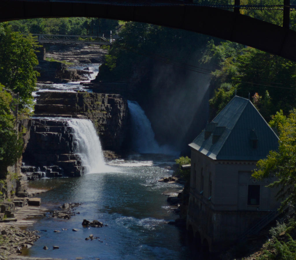 Rainbow Falls (Ausable Chasm NY) by H-R-Germaine