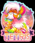 Tetris badge