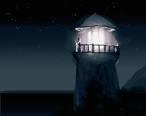 Lighting the Lighttower - Daily Spitpaint
