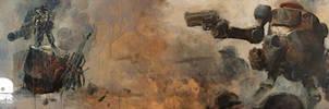 World War Robot Wallpaper by kuanwin