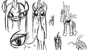 Some Chrysalis sketchies by LimeyLassen